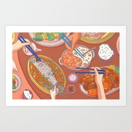 An Asian Feast Art Print