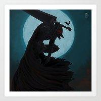 berserk Art Prints featuring Berserk Armor by Yvan Quinet
