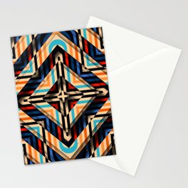 Rhombuses with cross (red-yellow-blue) Stationery Cards