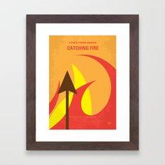 No175 My Games Hunger minimal movie poster 2 Framed Art Print