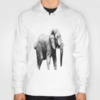 african Hoodies featuring African Elephant by T.E.Perry