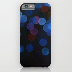 No. 45 - Print of Deep Blue Bokeh Inspired Modern Abstract Painting  Slim Case iPhone 6s