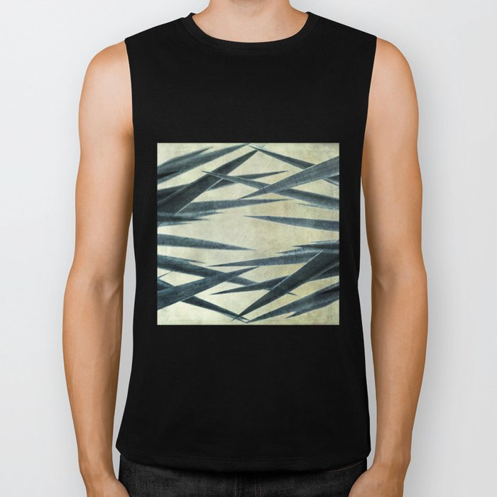 Yucca Leaves Abstract Biker Tank