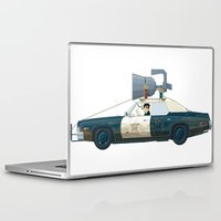 blues brothers Laptop & iPad Skins featuring The Blues Brothers Bluesmobile 2/3 by Staermose
