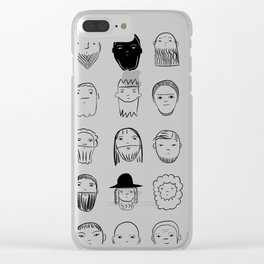 beards Clear iPhone Case