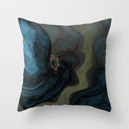 Dark Swamp Throw Pillow