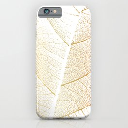 Gold Leaf Skeleton Tropical Abstract Botanical Boho Luxury  iPhone Case