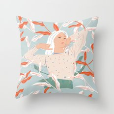 She's Electric Throw Pillow