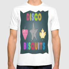 Disco Biscuits Mens Fitted Tee White MEDIUM