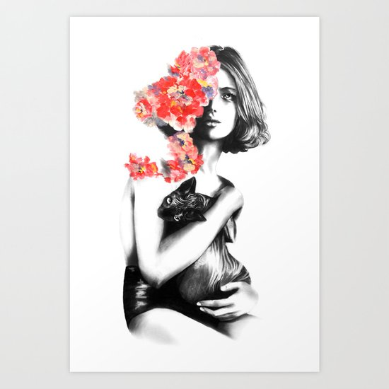 Natalia Vodianova // Fashion Illustration Art Print