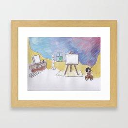 Artist Block Framed Art Print