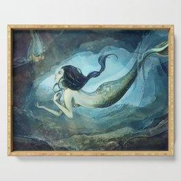 mermaid treasure Serving Tray
