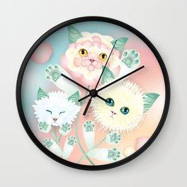 kitten bouquet Wall Clock