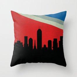 Indianapolis Skyline Throw Pillow
