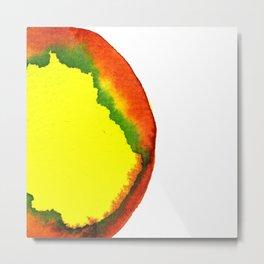 orange yellow smear Metal Print