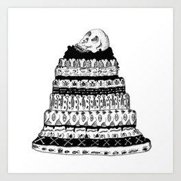 Death Cake Art Print