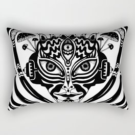 Cyber Princess Black Rectangular Pillow