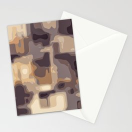 grey and brown square pattern abstract background Stationery Cards