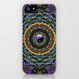Purple Yin Yang Sacred Geometry Fractals iPhone Case