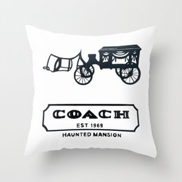Haunted Stagecoach  Throw Pillow