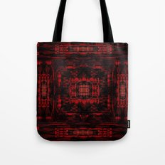 Red Black Pattern 1 Tote Bag