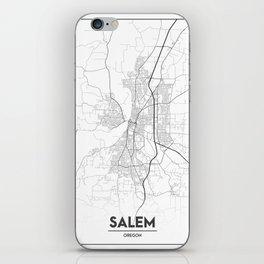 Minimal City Maps - Map Of Salem, Oregon, United States iPhone Skin
