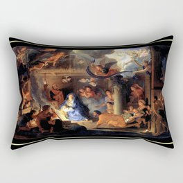 Le brun Adoration of the Shepherds 1689 – natividad,nativité, christ,gospel. Rectangular Pillow