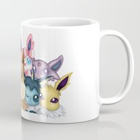 sylveon Mugs featuring KAWAII EEVEELUTIONS by Savannah Lawrence