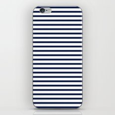 Indigo Navy Blue Nautical Stripes iPhone Skin