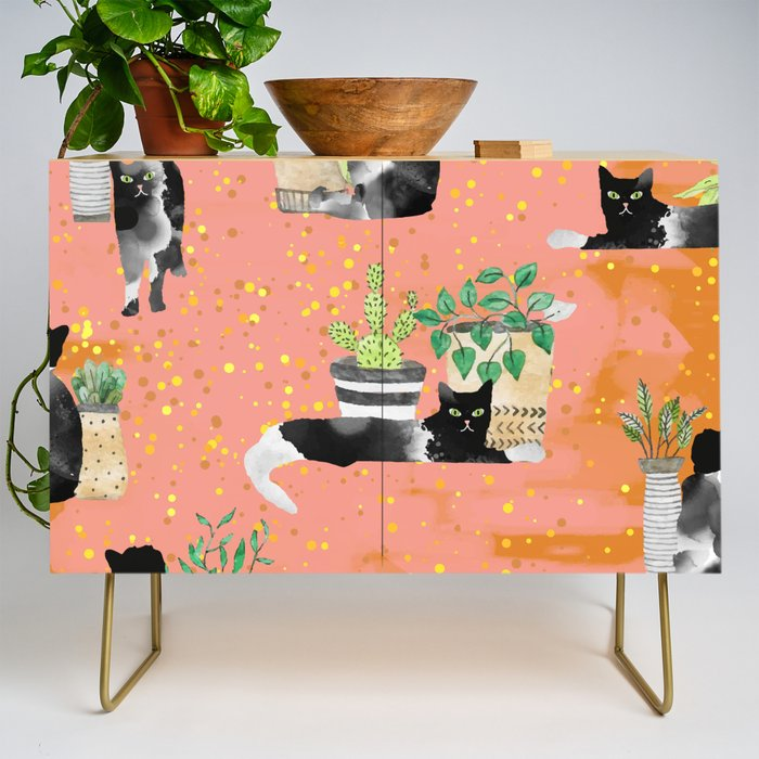 Cats  Plants society6artprint cats decor