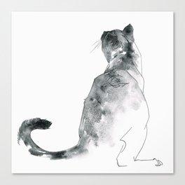 Cat at the Windowsill Canvas Print