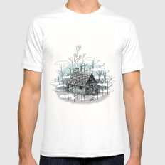 DEEP IN THE HEART OF THE FOREST MEDIUM White Mens Fitted Tee