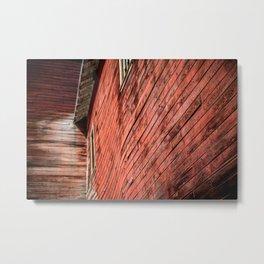 Red wooden walls Metal Print