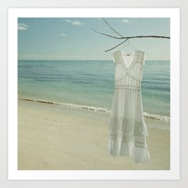 My White Dress. Art Print