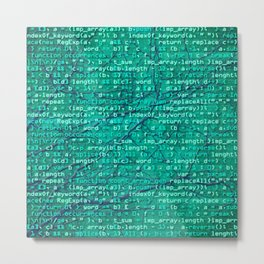 code_forest Metal Print