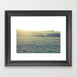 Light in the fields Framed Art Print