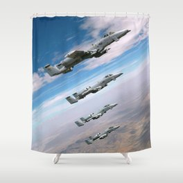 BEAUTIFUL AIRPLANE FORMATION Shower Curtain