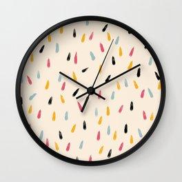 Abstract Colorful Retro Colored Rain Drops - Imugi Wall Clock