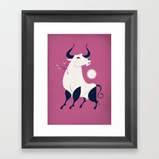 Bull Framed Art Print