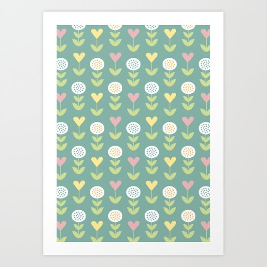Flower pattern Art Print