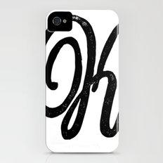 Monogrammed Letter K iPhone (4, 4s) Slim Case