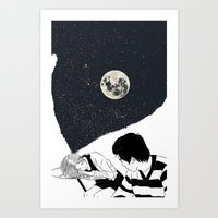 Dreams Moon Art Print