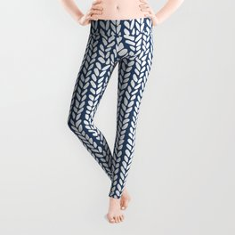Cable Row Navy 1 Leggings