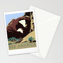Vintage Travel Poster Southwest America USA Stationery Cards