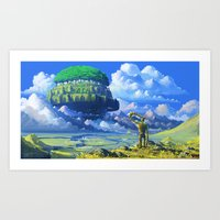 castle in the sky Art Prints featuring Castle in the sky by Roberto Nieto