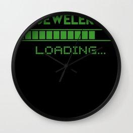 Jeweler Loading Wall Clock