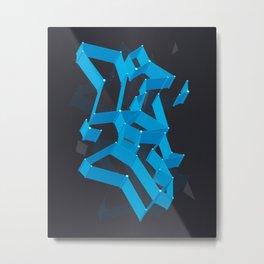 3D X 0.5 Metal Print