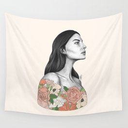Blushing Blossoms Wall Tapestry