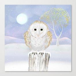 Snowy the Barn Owl Canvas Print