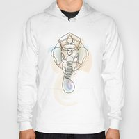 quibe Hoodies featuring One Line Ganesh by quibe